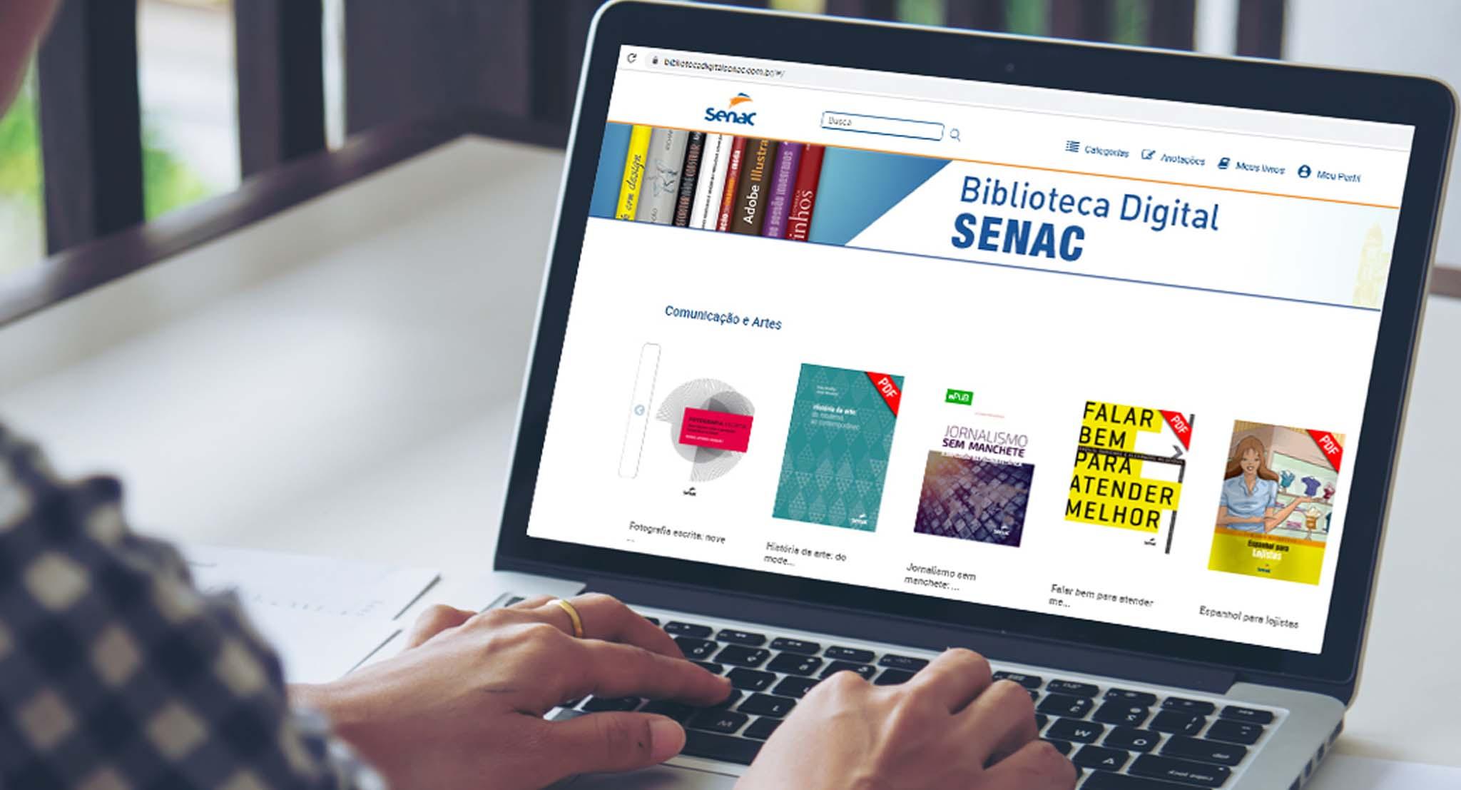 Biblioteca Digital do Senac é opção segura para estudar remotamente_