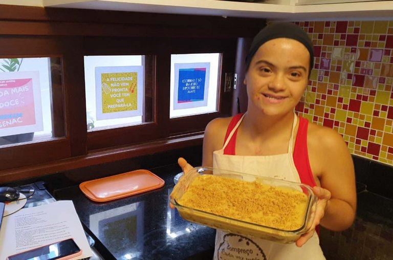 Camila Basílio gostou muito de participar da Oficina de Sobremesas Geladas